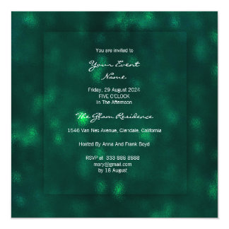 3-D Woodland CaliGreen Glass Greenery Tropical Dee Card