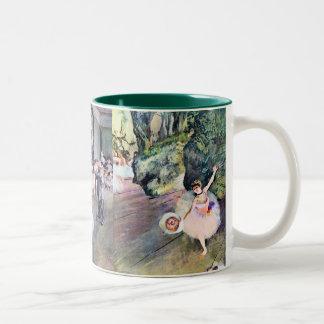 3 Different Ballerinas by Edgar Degas Two-Tone Coffee Mug