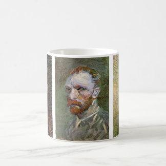 3 different Van Gogh Self Portrait Paintings Basic White Mug