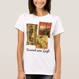 3 different van Gogh Vintage Japanese Fine Art T-Shirt