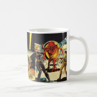 3 Different Vintage Science Fiction Sci Fi Scenes Coffee Mug