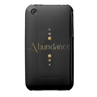 3 Dot Gold Block Abundance & Black Background iPhone 3 Cover