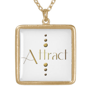 3 Dot Gold Block Attract Gold Plated Necklace