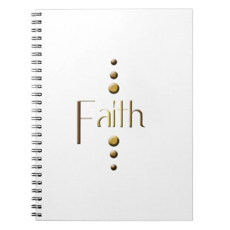 3 Dot Gold Block Faith Notebook