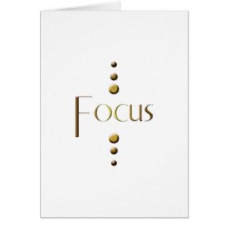3 Dot Gold Block Focus Card