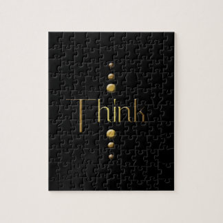 3 Dot Gold Block Think & Black Background Puzzles