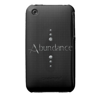 3 Dot Silver Block Abundance & Black Background iPhone 3 Case-Mate Cases