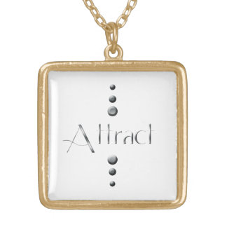 3 Dot Silver Block Attract Gold Plated Necklace