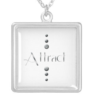 3 Dot Silver Block Attract Silver Plated Necklace
