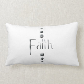 3 Dot Silver Block Faith Lumbar Pillow