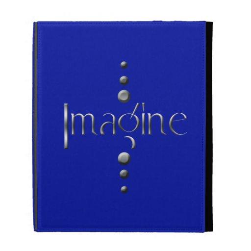 3 Dot Silver Block Imagine & Blue Background iPad Case