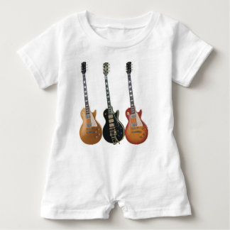 3 ELECTRIC GUITARS BABY ROMPER