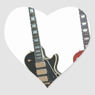 3 ELECTRIC GUITARS HEART STICKER