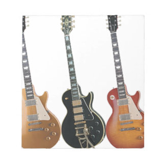 3 ELECTRIC GUITARS NOTEPADS