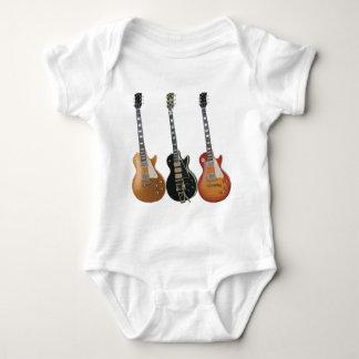 3 ELECTRIC GUITARS RETRO BABY BODYSUIT