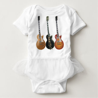3 ELECTRIC GUITARS RETRO BABY BODYSUIT