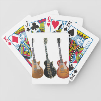 3 ELECTRIC GUITARS RETRO BICYCLE PLAYING CARDS