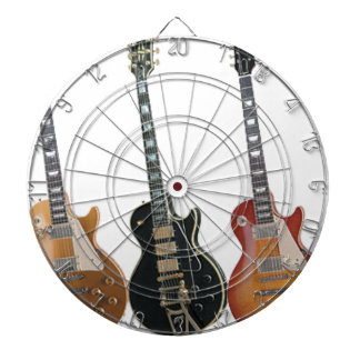 3 ELECTRIC GUITARS RETRO DARTBOARD