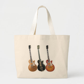 3 ELECTRIC GUITARS RETRO LARGE TOTE BAG