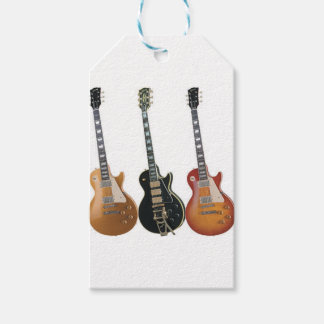 3 ELECTRIC GUITARS RETRO PACK OF GIFT TAGS