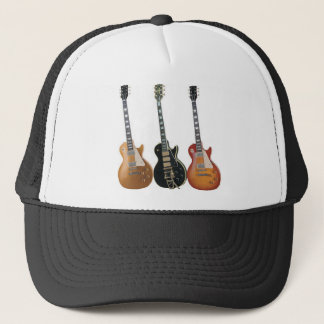 3 ELECTRIC GUITARS RETRO TRUCKER HAT