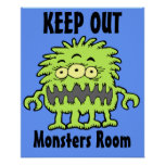 3 Eyed Mongo Monster Door Poster