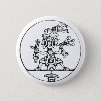 3 Faced shaman black - Amazing Mexico Button
