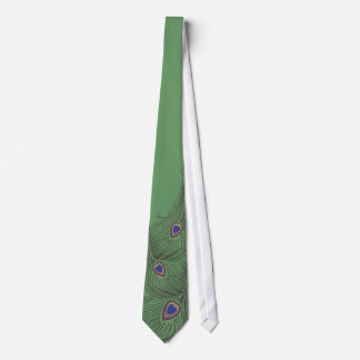 3 Feathers Peacock Tie For Weddings