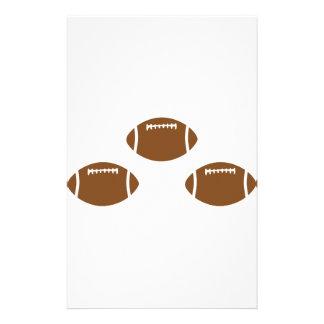 3 footballs custom stationery