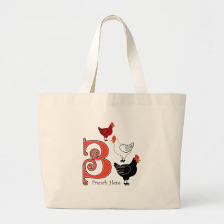 3 French Hens Large Tote Bag