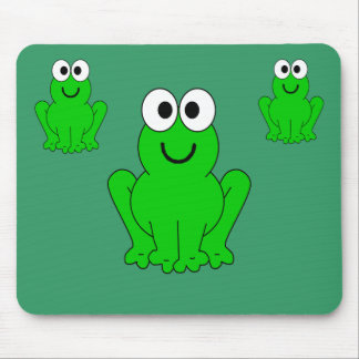 3-frogs mouse pad