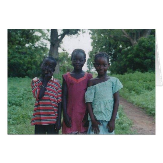 3 gambia village children card