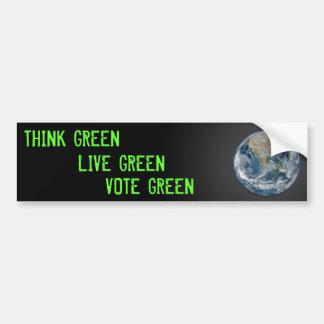 3 Greens Bumper Sticker