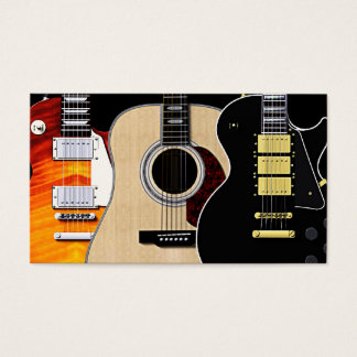 3 Guitars Blank Business Card