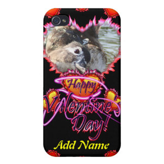 3 Hearts Happy Valentine's Day neon sign iPhone 4/4S Cases