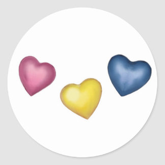 3 Hearts Stickers