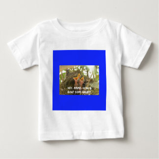 3 Hungry Baby Birds In Nest Baby T-Shirt
