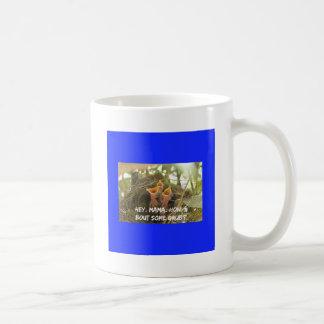 3 Hungry Baby Birds In Nest Coffee Mug