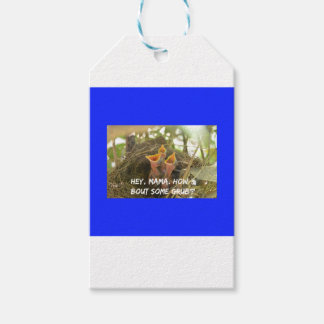 3 Hungry Baby Birds In Nest Gift Tags