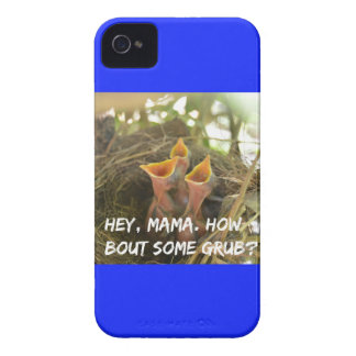 3 Hungry Baby Birds In Nest iPhone 4 Case-Mate Case