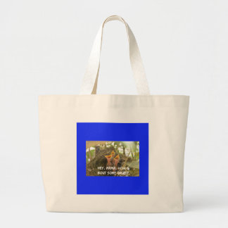 3 Hungry Baby Birds In Nest Large Tote Bag