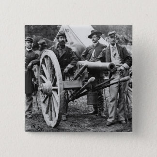 3 inch Ord Rifle Cannon - Civil War 2 Inch Square Button
