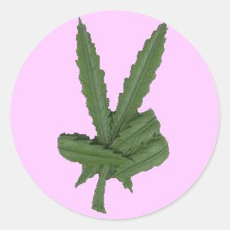 3 Inch Round Pink Peace Classic Round Sticker