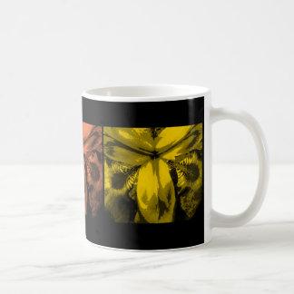 """3 iris : Rangée des fleurs, """"coucher du soleil"""", Tasse À Café"""