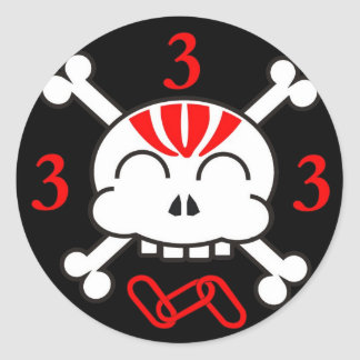3 is a magic number sticker