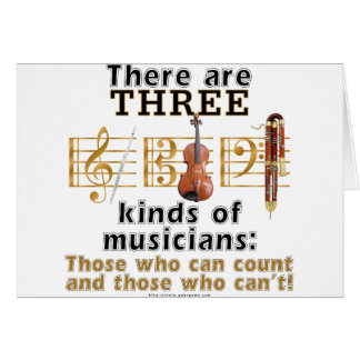 3 kinds of musicians card