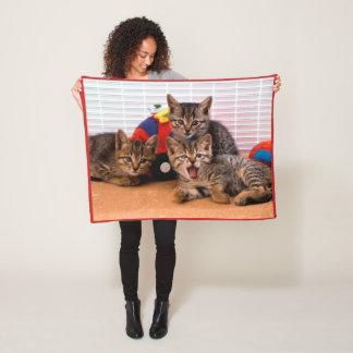 3 Kitties Fleece Blanket