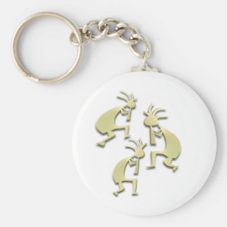 3 Kokopelli #57 Keychain