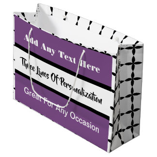 3 Lines of Customization Multi-Occasion Pink Large Gift Bag