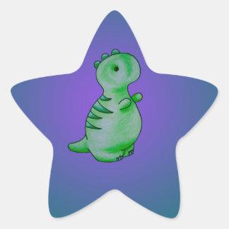 3 Little Dinos Star Sticker